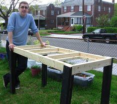 Self-Watering Veggie Table : 15 Steps (with Pictures) - Instructables Bucket Gardening, Container Gardening, Urban Gardening, Hydroponic Gardening, Urban Farming, Indoor Gardening, Raised Planter, Raised Garden Beds, Minecraft Garden