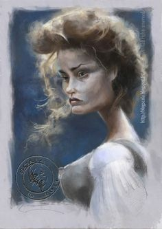 Caricature of Jessica Lange by Eric Scala