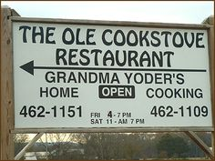 Danville, AL Old Cook Stove - Amish, fresh, baked, breads, bread, www.theoldcookstove.com reviewed in Alabama Back Road Restaurants by A. Musgrove