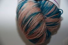 Hand-Dyed Coral Reef Colourway 4 ply Yarn Polwarth Snuggly Base by KnitterScarlet on Etsy