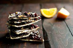 Dark Chocolate Cranberry Orange Matzo Bark