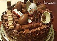 Kinderková torta Chocolate Explosion Cake, Chocolate Fudge Cake, Chocolate Ice Cream, Sleepover Food, Pretty Birthday Cakes, Starbucks Recipes, Food Cravings, Chocolates, Cake Recipes