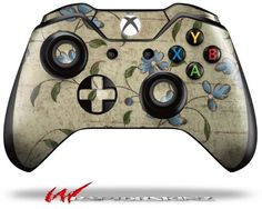 Flowers and Berries Blue  Decal Style Skin fits Microsoft XBOX One Wireless Controller CONTROLLER NOT INCLUDED -- Continue to the product at the image link.Note:It is affiliate link to Amazon.
