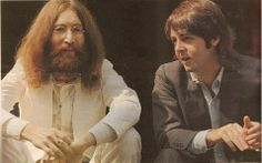John and Paul during a break from the photo session for the Abbey Road cover