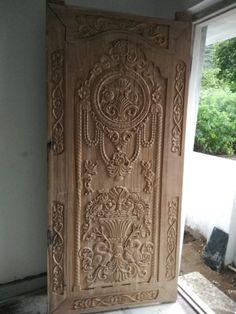 Single Door Design, Wood Carving Designs, Single Doors, Sofa, Furniture, Home Decor, Mud, Homemade Home Decor, Home Furnishings