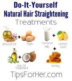 Diy hair smoothing treatment pinterest argan oil coconut oil diy natural hair straightening treatments solutioingenieria Images