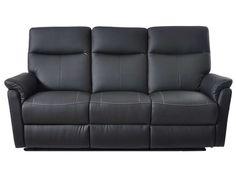 Canapé relaxation manuel 3 places TRANKS Coloris noir prix promo Canapé…