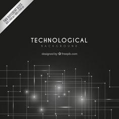 Technological dark background Free Vector