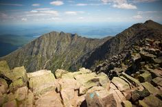 The top of Baxter State Park's Mount Katahdin in Maine rising a mile over sea level and a one-of-a-kind hiking destination.