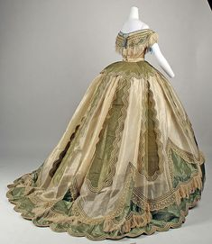 Dress (image 9)   French   1865   silk   Metropolitan Museum of Art   Accession Number: C.I.69.33.9a–e