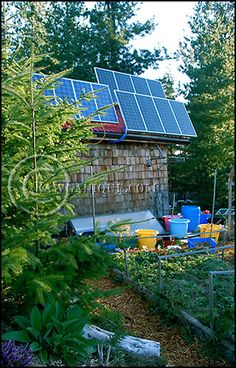 Solar shown in this off the grid homesteading article. | Tiny Homes