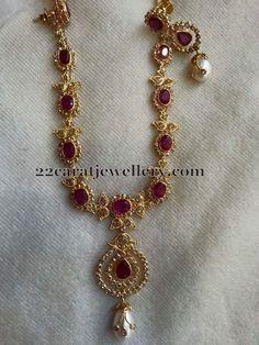 Uncut Diamond Sets with Earrings - Jewellery Designs