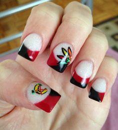 Chicago Blackhawks Nails