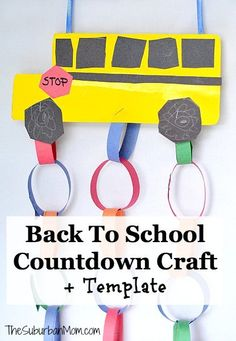School Bus Countdown- 25 Cute and Creative DIY Back To School Crafts