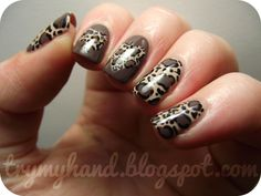 Try My Hand: NOTD : Leopard Print Hearts