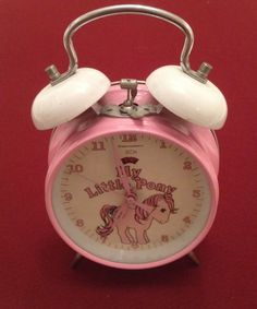 Vintage Retro My Little Pony Pink MLP Original Alarm Clock Cute Kitsch 80's VGC | eBay