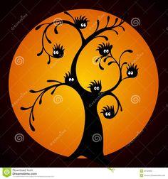 Árbol De Halloween Fotografía de archivo - Imagen: 32123352