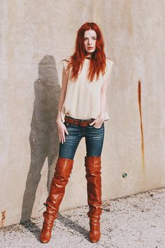 Endless Summer ( Leather Boots & Bleached Jeans )