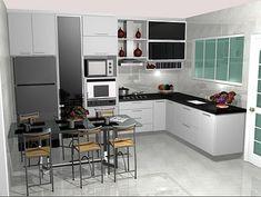 Pense em cada canto da sua cozinha planejada (Foto: Reprodução/Decorando Casas)
