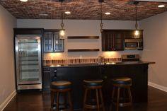 Custom basement wet bar