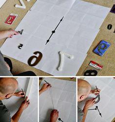 Rahmenlose DIY Wanduhr selber machen: So geht`s: