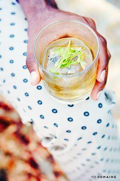 pretty summer cocktail