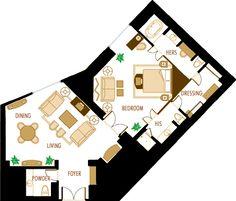 hotel suite floor plans | LAS VEGAS LARGE SUITES AT TI