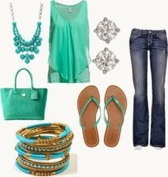 2 Girls, 1 Year, 730 Moments to Share: [Spring Fashion]: Mint Green