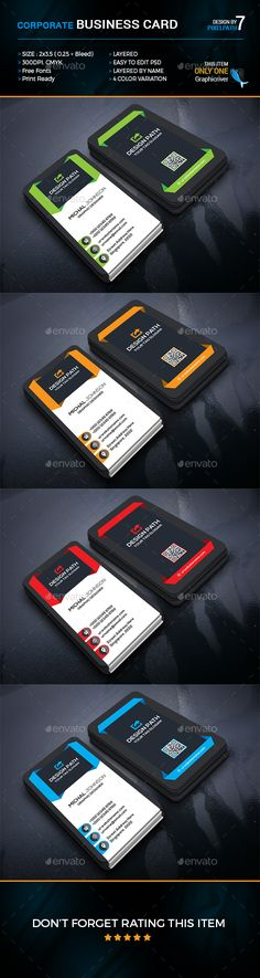 Buy Corporate Business Card by on GraphicRiver. This is a Corporate Business card dpi print-ready CMYK 08 PSD files. Banners, Real Estate Business Cards, Corporate Business, Business Card Design, Card Templates, Branding, Graphic Design, Toronto, Card Ideas