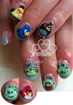 Sounds crazy, but my nephew would like this nails. He is crazy for angry birds. Of course, not on him but a female family member.