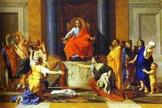The Judgment of Salomon is an oil on canvas x 150 cm) painted in 1649 by French painter Nicolas Poussin Caravaggio, Rembrandt, Poussin Nicolas, Renaissance, Oil On Canvas, Canvas Art, Art Français, King Solomon, Classical Antiquity
