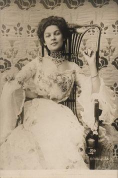 Postcard of Anastasia Vialtzeva, Russian singer - Wesenberg -  St. Petersburg, Russia - c. 1900