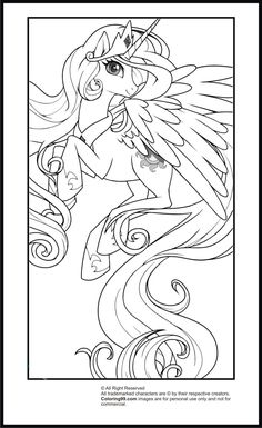Princess Celestia Coloring Page . Princess Celestia Coloring Page . My Little Pony Princess Celestia Coloring Pages Horse Coloring Pages, Coloring Pages For Girls, Cartoon Coloring Pages, Disney Coloring Pages, Colouring Pages, Coloring Books, My Little Pony Princess, My Little Pony Twilight, Baby Princess