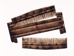 7thC Alamanni double comb with case from Niederstotzingen.