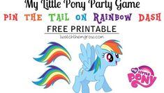 Pin the Tail on Rainbow Dash (Free Printable)