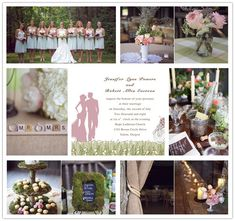 elegant country wedding decor | Green and Pink Rustic Wedding Ideas and Wedding Invitations