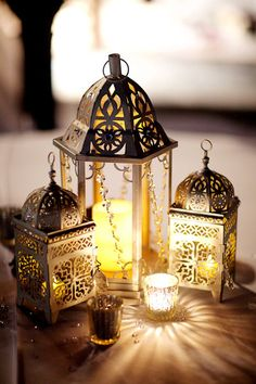 Moroccan lanterns give a romantic vibe to an evening on the porch or in the garden.