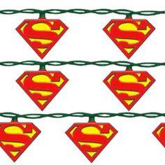 Superman Christmas Decorative Lights Set $25.99 with Free U.S. Shipping