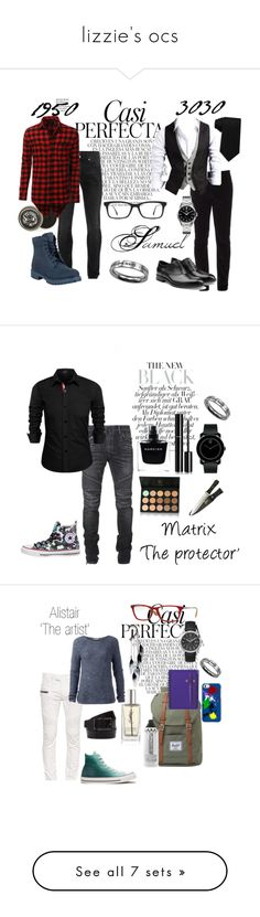"""""""lizzie's ocs"""" by amopuppy ❤ liked on Polyvore featuring Whiteley, Gucci, TAG Heuer, Jil Sander, Alexander McQueen, Timberland, Ray-Ban, Tommy Hilfiger, LE3NO and men's fashion"""