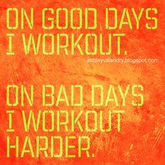 Workout harder, feel better.