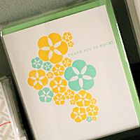 The Windmill presents greeting cards from Fig. 2. Featuring bold letterpress, neon inks, and colored envelopes.