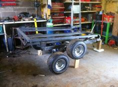 ATV trailer. tandem/walking axles
