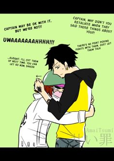 Trafalgar Law, Shachi and Penguin 'Don't insult our captain' part 3