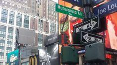 """New York City hat in der Nähe des Madison Square Garden eine Straße in den """"Muhammad Ali Way"""" umbenannt. An der legendären"""