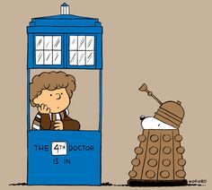 Doctor Who meets Snoopy  http://www.patheos.com/blogs/exploringourmatrix/2011/08/snoopy-time-lord.html