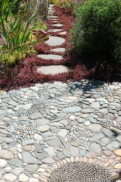 Jeffrey Bale Pebble Mosaic at Northwest Garden Nursery  July 30 116 by abiallen, via Flickr