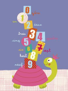 Numbers on a Turtle Print by Isabelle Jacque at Art.com