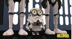"""""""Despicable Me"""" Minions Retired Troopers """"Star Wars"""" - Had to add this one, 2 of my favorite things.star wars and minons. Amor Minions, Minions Love, Minions Despicable Me, Minion Characters, Cosplay Characters, Iconic Characters, Hulk, Minion Dress Up, Minion Humour"""