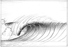 how to draw a wave...surf art tutorial