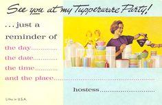 Vintage Tupperware, Party Invitation   Postcardy